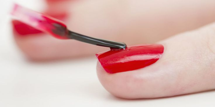 The Trick to Not Getting Nail Polish On Your Skin.