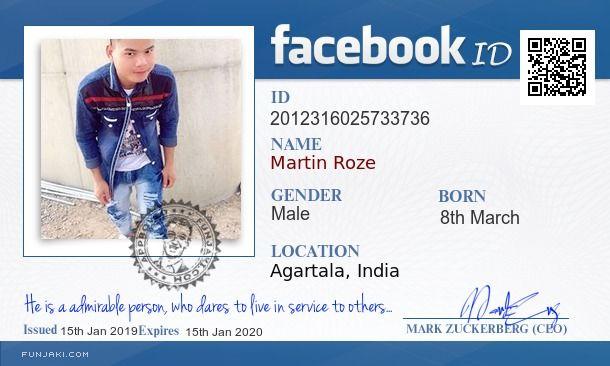 Martin Roze's Facebook ID Card - Funjaki com | Funjaki com in 2019