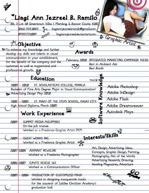 22 best Resume Ideas images on Pinterest Resume ideas, Cv design - interests on a resume