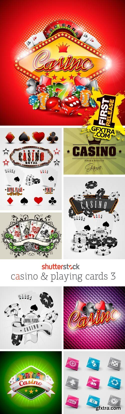 T shirt design 4 25x eps - Amazing Ss Casino Playing Cards 3 25xeps