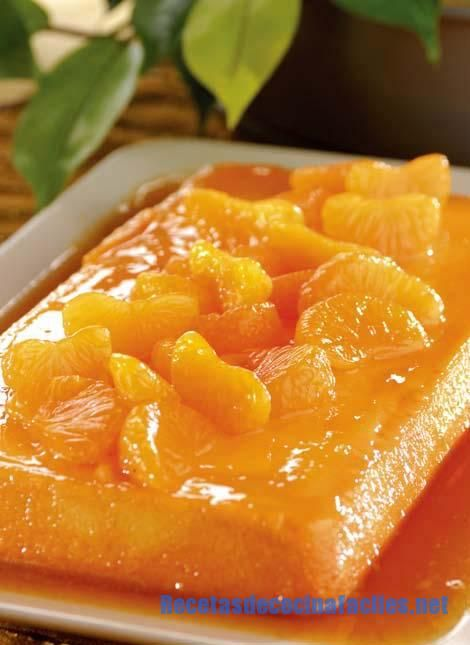 flan de mandarina y miel