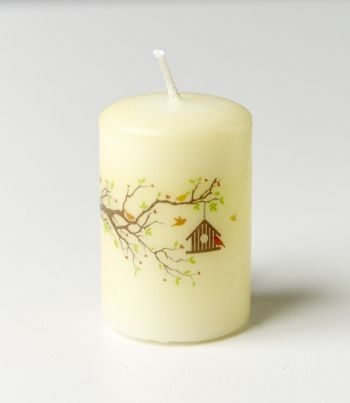 Kerze Vogelhäuschen