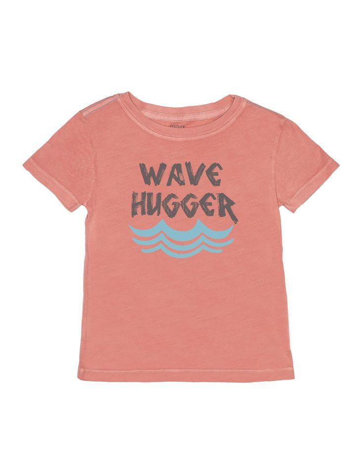WAVE HUGGER KID TEE- CORAL
