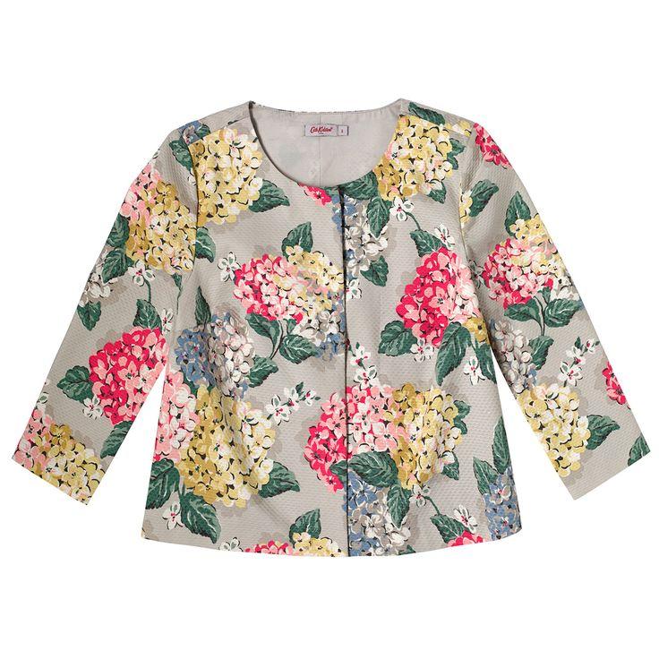 Hydrangea Cotton Texture Jacket | Cath Kidston |