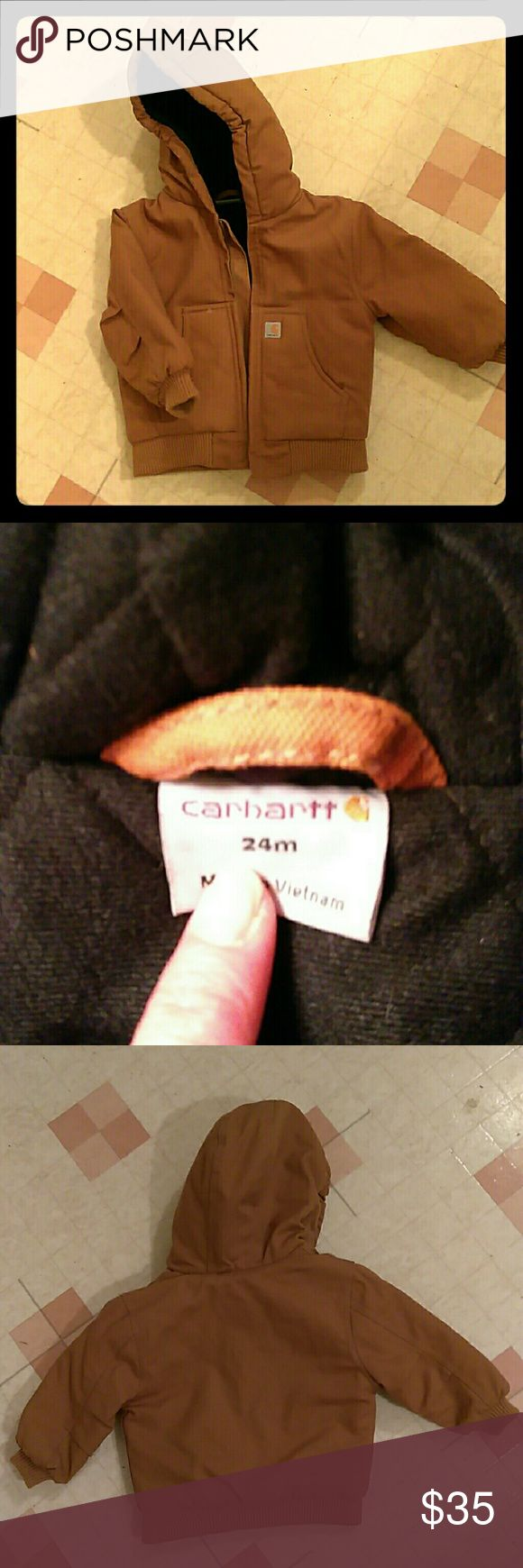 Toddler boys size 24 months Never worn! It's a classic in perfect condition Carhartt Jackets & Coats Utility Jackets