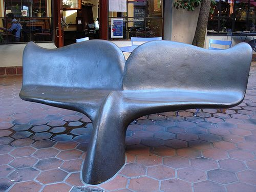 whale tail bench .. what a street art