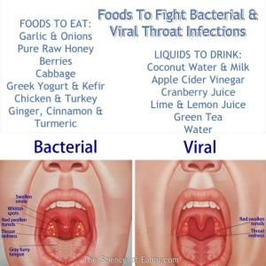Foods That Fight Viral & Bacterial Throat Infections by hollie