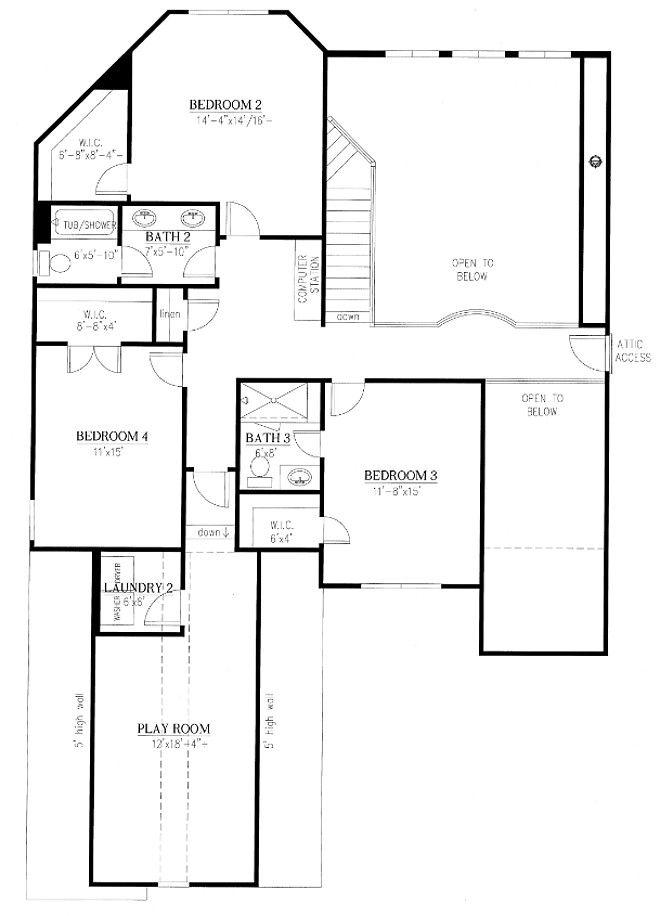 Second Floor Floor Plan Floor Plans House Plans How To Plan