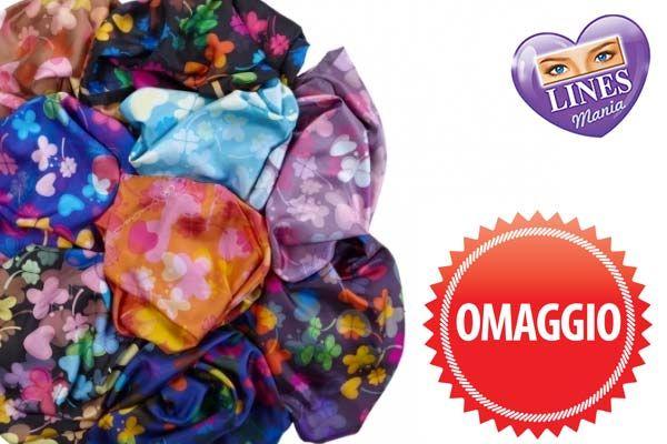 Lo splendido foulard è in omaggio in tutti i negozi targati Tigotà e Acqua & Sapone! Acquistando tre prodotti Lines o Tampax, lo ricevi subito alla cassa fino al 31 Dicembre!