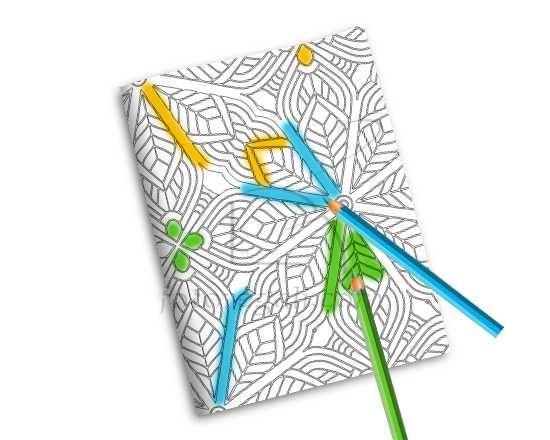 Quaderno Copertina da Colorare Fiori stella