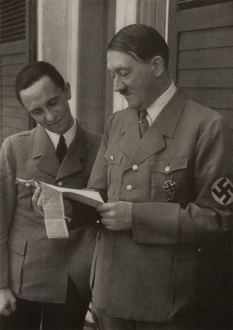 Joseph Goebbels  and Adolf Hitler. Unpublished photograph.