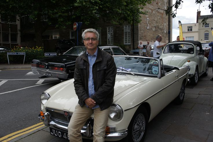 David Bond, Marketing Manager, with his beloved MG