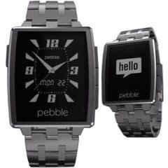 Pebble Steel Smartwatch für iOS und Android Geräte. Bei uns schon vorbestellbar.