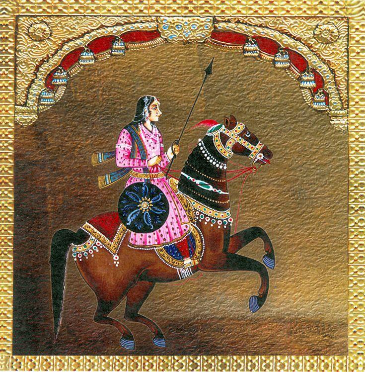 Queen Lakshmibai (Reprint on Paper - Unframed)