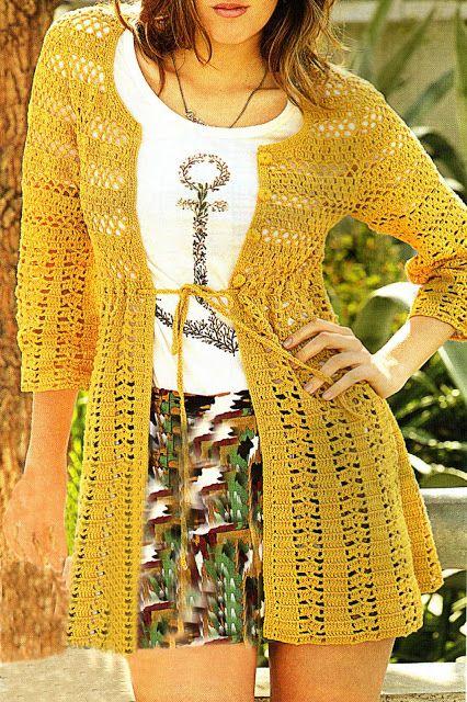 tejidos artesanales en crochet: saco tejido en crochet con fantasias combinadas (talle small)