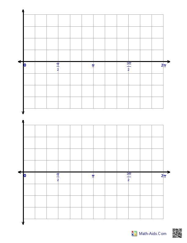 Trigonometric Graph Paper Zero To Two Pi Math Aids Com