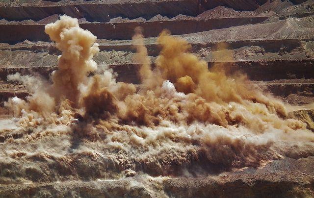 A blast at the Escondida Mine, Chile