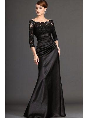 Uzun/Kısa Siyah Abiye Elbise Modelleri 2014