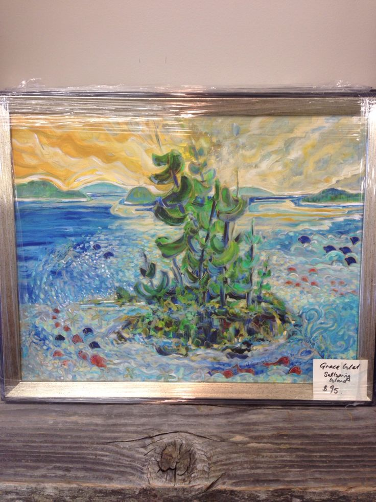 Lovely painting of Grace Islet, SaltSpring Island. Artist Jill Louise Campbell