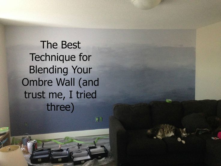 I Tried Three Of The Most Popular Diy Ombre Wall