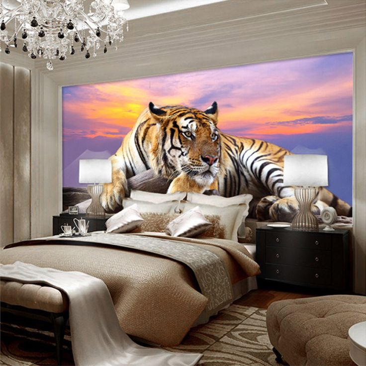 custom photo wallpaper tiger animal wallpapers 3d large mural bedroom