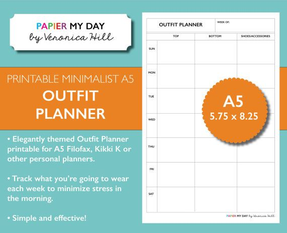 1000+ Images About Organization - Filofax And Planner Printables On Pinterest