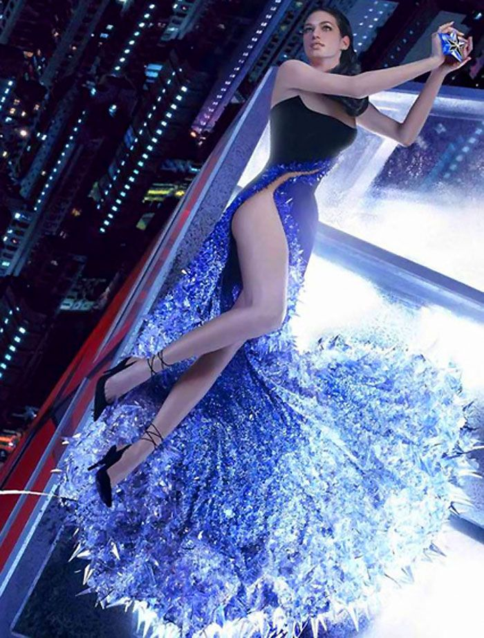 Thierry Mugler_Angel_110 lb crystal and sequin dress