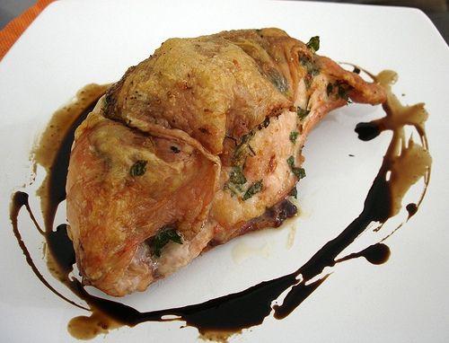 Parmesan-stuffed chicken breasts / Peitos de frango recheados com ...