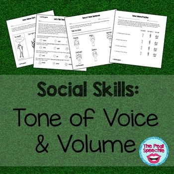 Social Skills tone of voice and voice volume worksheets and activities! Check out these low ink social skills worksheets! Students that mumble, speak too loudly, or use incorrect tone of voice will benefit from this packet. This packet is included in the Social Skills Bundle.