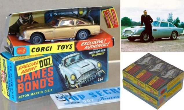 James Bond Corgi toy cars found in original packaging after 50 years