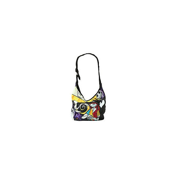 The Nightmare Before Christmas Jack & Sally Stained Glass Hobo Bag  ... ($45) ❤ liked on Polyvore featuring bags, handbags, shoulder bags, hobo handbags, white purse, hobo shoulder handbags, hot topic and hobo purses