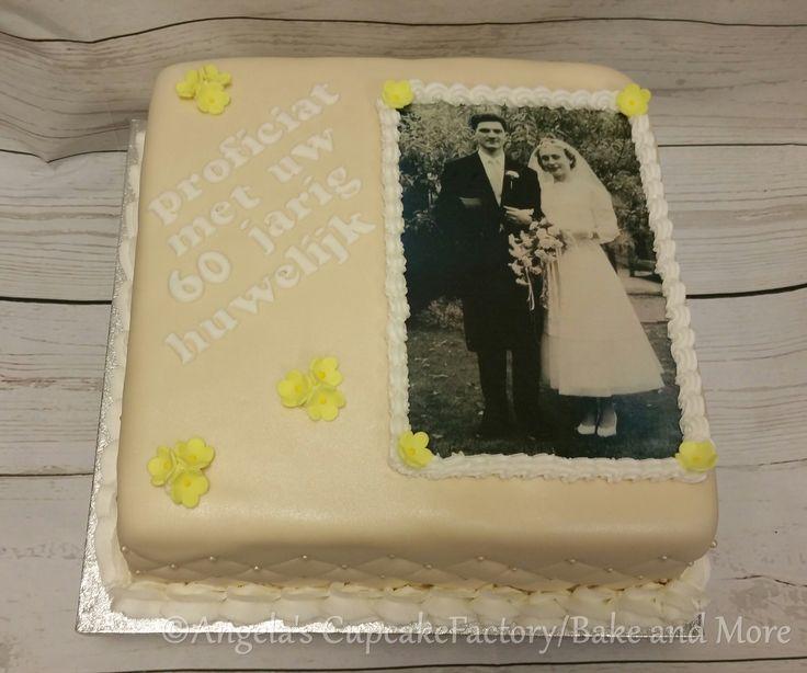 60 years of  marriage anniversary cake