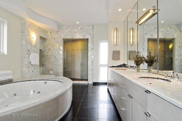 All white modern bathroom