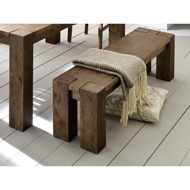 Tmavohnedá jedálenská lavica z akáciového dreva SOB Sydney