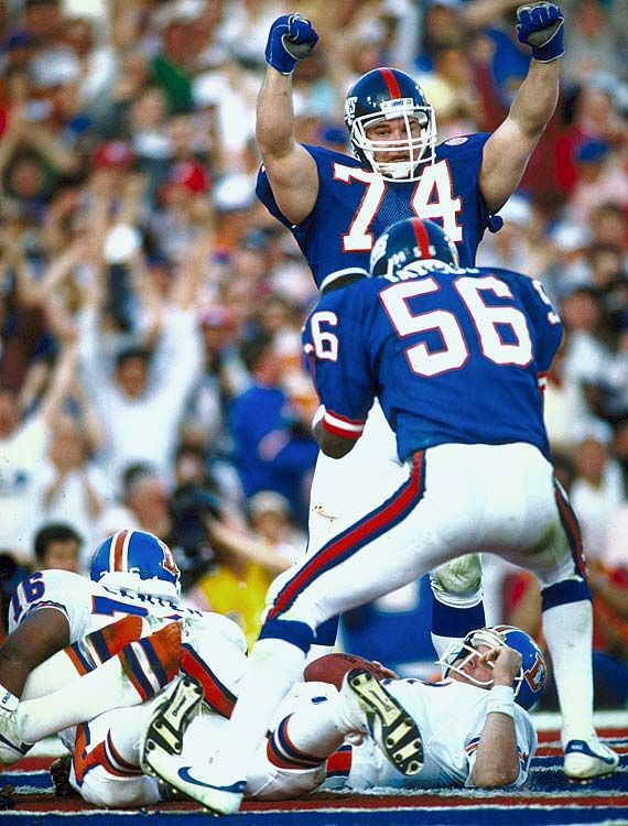 Lawrence Taylor and  Erik Howard  Jan. 25, 1987 vs. Broncos in Super Bowl XXI