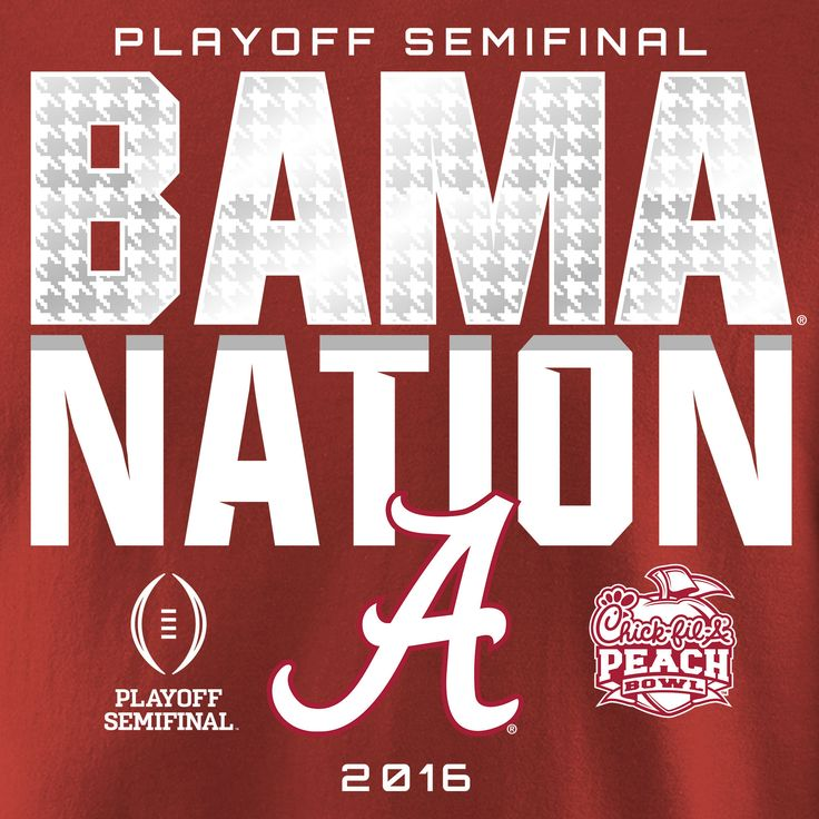 Fanatics Branded Alabama Crimson Tide Crimson College Football Playoff 2016 Peach Bowl Bound Nation Long Sleeve T-Shirt