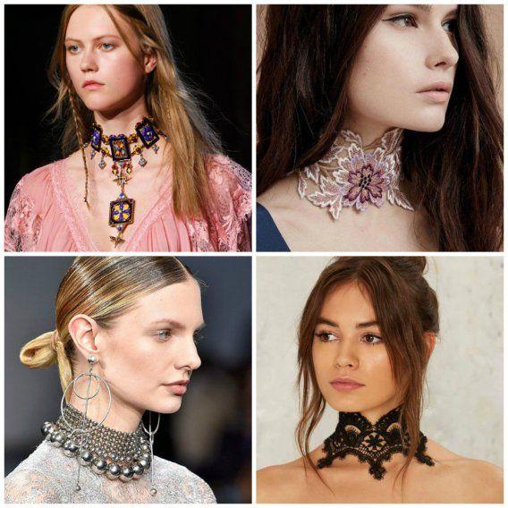 модные аксессуары 2017, ожерелье чокер