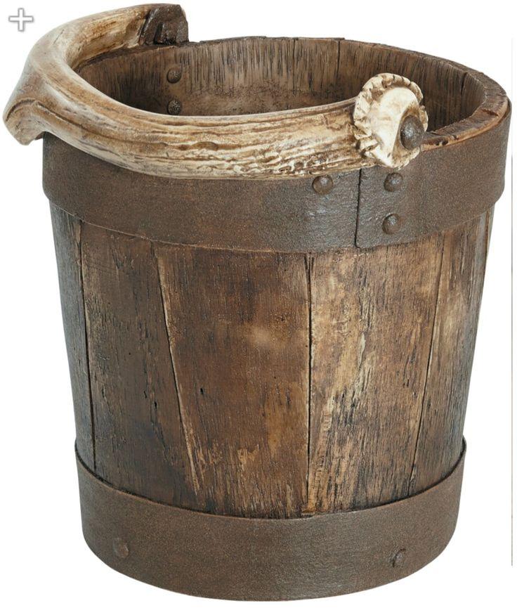 Antler rustic waste basket by Cabela's