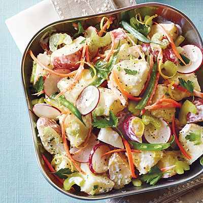 Veggie Potato Salad Recipe Side Dishes, Salads with red potato, apple cider