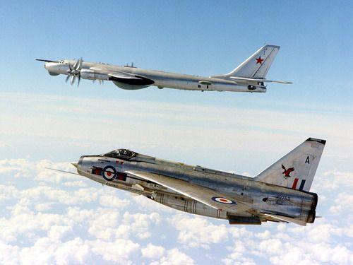 RAF English Electric Lightning and Russian Tupolev TU-95 Bear