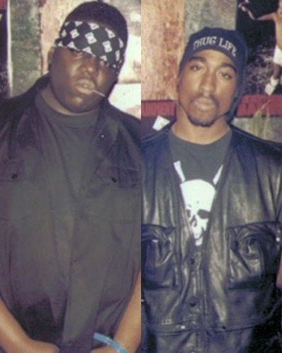 Biggie Smalls and Tupac