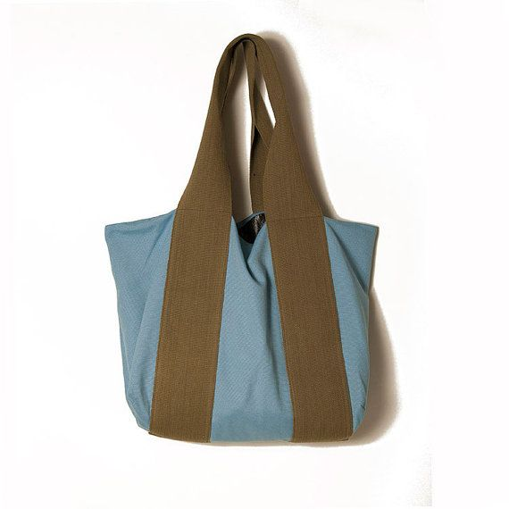 Light blue large bag / Blue bag / Mum's by ElenaVandelliBags