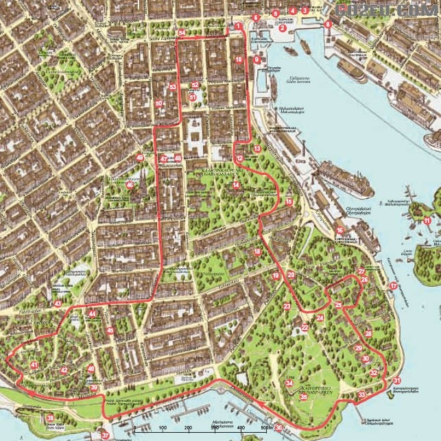 See Helsinki on Foot  Walking routes 5. From the Market Square to Kaivopuisto Park