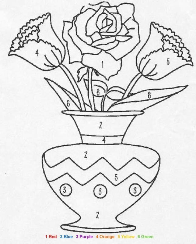 Riscos De Vasos Jarros E Xicaras Com Flores Paginas Para
