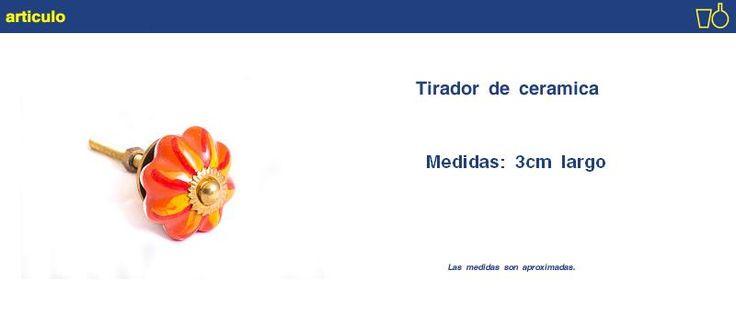 Tirador De Cerámica, Moderno Bazar - $ 29,90 en MercadoLibre