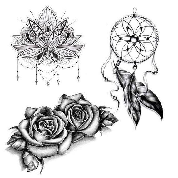6 Temporary Tattoos Body Art Tattoos Tattoos Mandala Tattoo