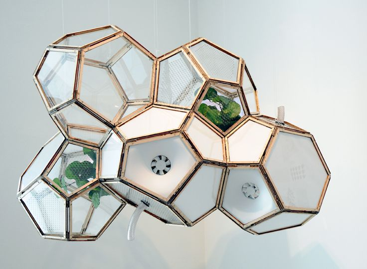 Artificial Nature Filtration Block from Elaine Tong: An ingenious filtration system keeps air clean through a set of cell-like modules and a network of tubes that harnesses the organic technology of plants
