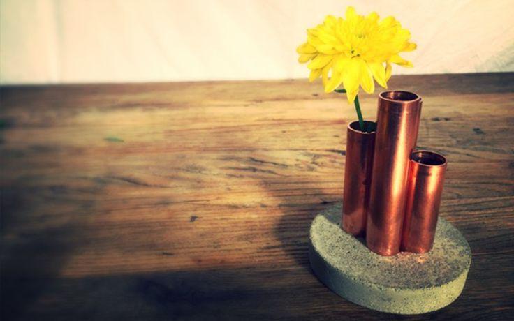 Härliga kopparvaser som även passar perfekt för förvaring av penslar och sminkborstar m.m.