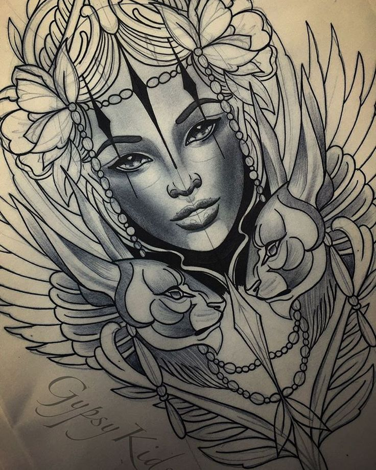 Goddess Tattoo For Woman