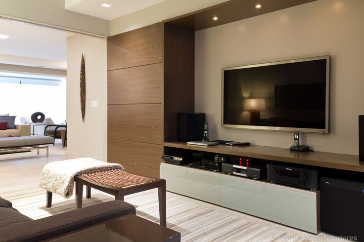 Sala Tv Home Theater ~  no Panamby  Decoradora Marilia Veiga  Home Theater  Pinterest  Ems